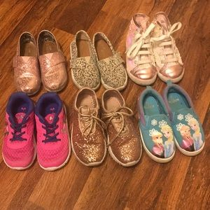 Lot of 6 (size 9) toddler shoes